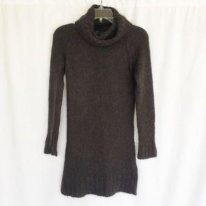 Zara gray mohair wool blend fuzzy turtleneck S